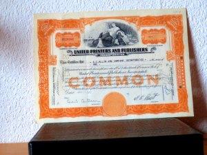 Alte US-Aktie von 1957