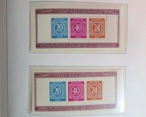 Alliierte Zone  Briefmarken Blöcke von 1946