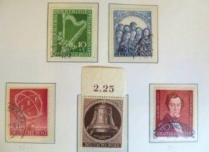 Berlin Briefmarken aus der Zeit 1950 - 1951