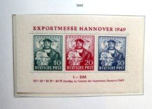 Bizone  Briefmarkenblock Hannovermesse 1949