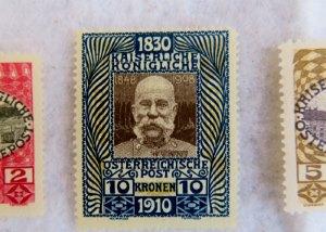 Gefälschte österreichische Briefmarke von 1910
