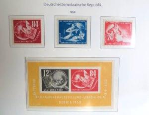 DDR Briefmarken vom Jahr 1950