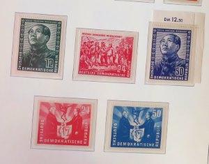 DDR Briefmarken vom Jahr 1951