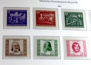DDR Briefmarken vom Jahr 1952