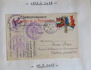 Feldpost aus einer Briefmarkensammlung von Elsass-Lothringen