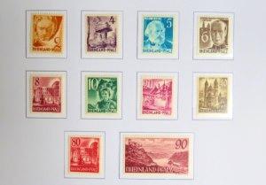 Französische Zone Briefmarken 1949 für Rheinland-Pfalz