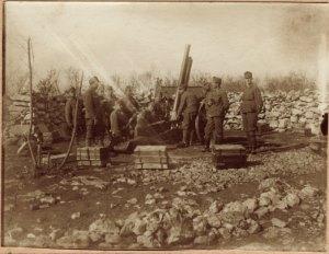 Flugabwehrstellung der Eisenbahntruppen der k. u. k. Monarchie im 1. Weltkrieg