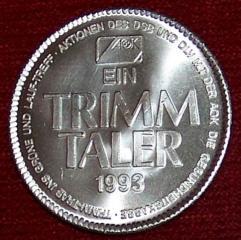 großer aok trimm taler 1993