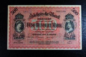 Deutscher Geldschein aus Sachsen
