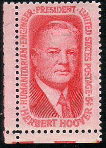 Herbert Hoover On 1965 Stamp Issue Of The United States Picture By Thomas Schmidtkonz