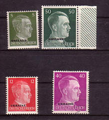 Values of Hitler Stamps